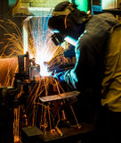 The working in Welding skill up Royalty Free Stock Photo