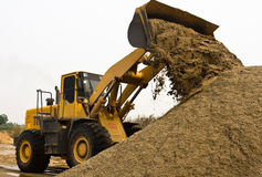 Working wheel loader Royalty Free Stock Image
