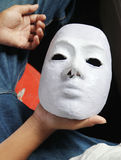 Working white mask Royalty Free Stock Image
