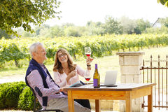 Working at winery Stock Photography