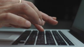 Working Woman Hand Typing On Laptop. Key bord stock video footage