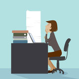 Working woman. Working woman, illustration vector design EPS10 Stock Photography