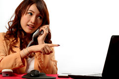 Working Woman at Office Royalty Free Stock Photo