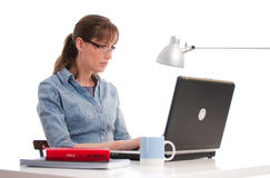 Working woman profile Royalty Free Stock Photos