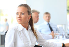Working woman thinking Royalty Free Stock Photos