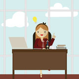 Working Women icon great for any use. Vector EPS10. Royalty Free Stock Image