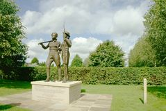 Working women memorial. Memorial at the National memorial arboretum for the women who worked to aid the war effort on the land and forestry during the second Royalty Free Stock Photography