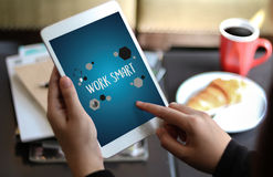 Working Work Smart  Productive Effective Growth Development Pass Royalty Free Stock Images