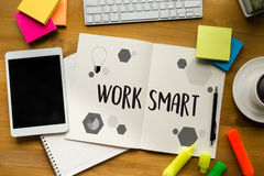 Working Work Smart  Productive Effective Growth Development Pass Stock Photography