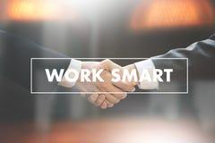 Working Work Smart  Productive Effective Growth Development Pass Stock Image