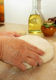 Working with yeast dough Stock Photography