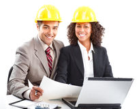 Working young architects. Royalty Free Stock Photos
