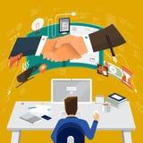 WorkingDesktop_19 Stock Images