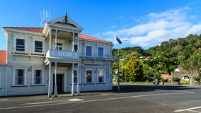 The Workingmen`s Club in Thames, New Zealand stock image