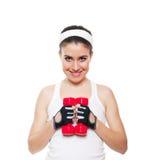 Workingout attraente della ragazza di forma fisica Immagini Stock