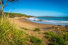 Workman beach in Agnes Water in Queensland, Australia stock photo