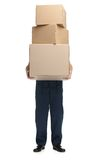 Workman delivers the parcel Royalty Free Stock Image