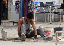 Workman fixing path Stock Photography