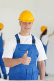 Workman gives thumbs up Royalty Free Stock Photos