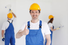 Workman gives thumbs up Stock Images