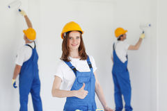 Workman gives thumbs up Royalty Free Stock Image