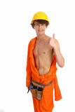 A workman giving a thumbs up sign Royalty Free Stock Photography
