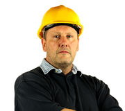 Workman with hard hat Royalty Free Stock Images