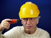 Workman having problems Stock Photo