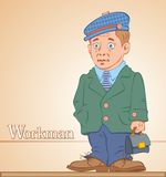 Workman, man with a briefcase Stock Images
