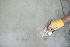 Free Workman Or Builder Doing Plastering Stock Photo - 74178290