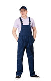 Workman in overalls Royalty Free Stock Photography
