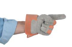 Workman Pointing Stock Photo