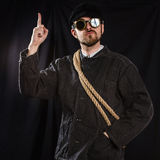 Workman pointing great idea Stock Images