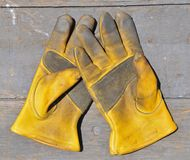 Workman's Gloves Stock Photo
