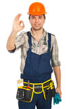Workman showing okay Royalty Free Stock Photo