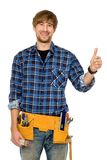Workman showing thumbs up Stock Images