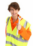 Workman with a spanner Stock Image