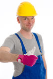 Workman with thumb up Royalty Free Stock Photo