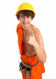 Workman with thumbs up Stock Photo