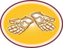 Workman Utility Gloves Retro Stock Photos