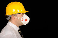 Workman wearing mask Stock Image