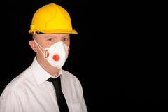 Workman wearing mask Stock Photos