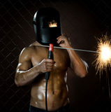 Workman welder Royalty Free Stock Photo