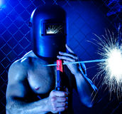 Workman welder Royalty Free Stock Images