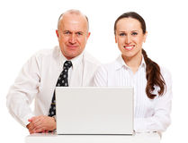 Workmates with laptop Royalty Free Stock Photo
