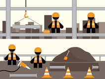Workmen Banners. Banners featuring workers involved in different types of construction Royalty Free Stock Photo