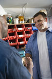 Workmen Shaking Hands Stock Photo