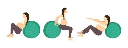 Workout για έγκυο Στοκ φωτογραφία με δικαίωμα ελεύθερης χρήσης