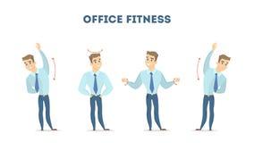 Workout για το γραφείο Στοκ φωτογραφία με δικαίωμα ελεύθερης χρήσης