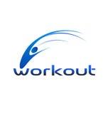 λογότυπο workout Στοκ φωτογραφίες με δικαίωμα ελεύθερης χρήσης